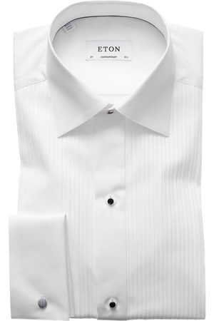 Eton Black tie shirt plissé contemporary fit