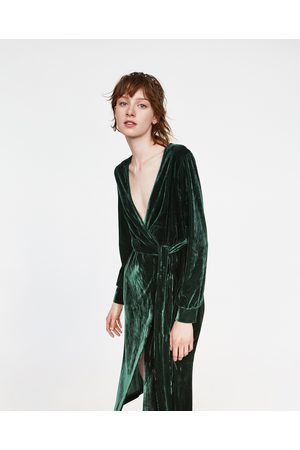 groene velours jurk