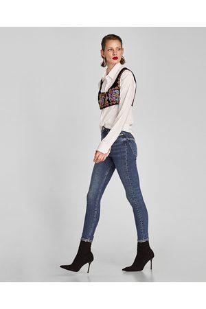 Zara HIGH WAIST JEANS IN TRUE BLUE