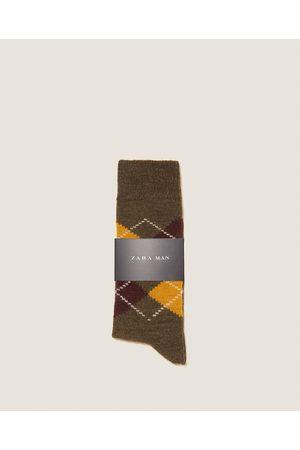 Zara SOKKEN MET INTARSIA GEBREID ARGYLE DESSIN - In meer kleuren beschikbaar