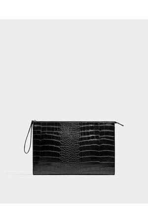 Zara CLUTCH IN REPTIELENLOOK - In meer kleuren beschikbaar