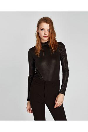 Zara GLANZENDE BODY MET COL - In meer kleuren beschikbaar