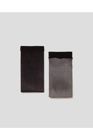 Zara PACK OF BASIC AND MESH SOCKS