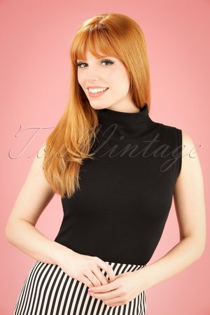 Heart of Haute 60s Trixie Top in Black