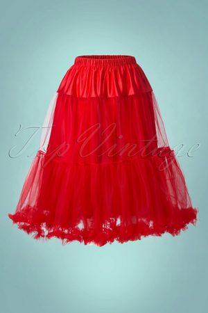 Bunny 50s Polly Petticoat in Striking Red