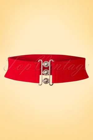 Dancing Days by Banned 50s Lauren Vintage Stretch Belt in Red