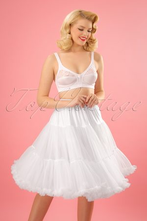 Dancing Days by Banned 50s Lola Lifeforms Petticoat in White