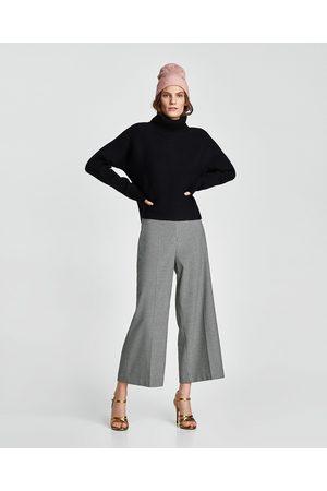Zara PIED-DE-POULE CULOTTE-BROEK