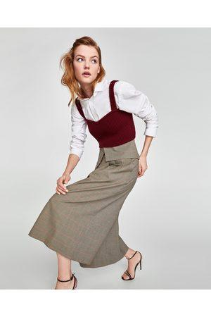 Zara CULOTTE-BROEK MET OMGESLAGEN TAILLEBAND