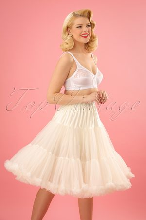 Banned Retro 50s Lola Lifeforms Petticoat in Ivory