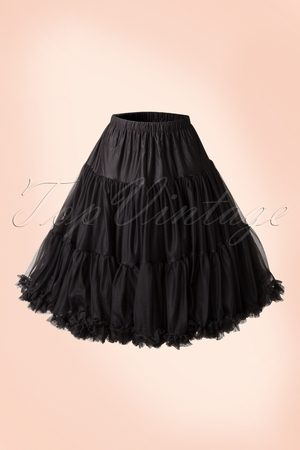 Dancing Days by Banned Dames Rokken - 50s Lola Lifeforms Petticoat in Black