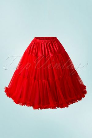 Dancing Days by Banned 50s Lola Lifeforms Petticoat in Red