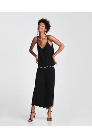 Zara CULOTTE-BROEK MET GESCHULPTE RAND - In meer kleuren beschikbaar