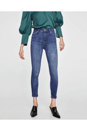 Zara HIGH WAIST JEANS IN PACIFIC SHAPER BLUE