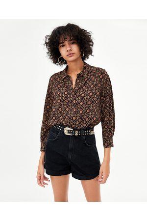 Zara DENIM MOM FIT BERMUDA - In meer kleuren beschikbaar