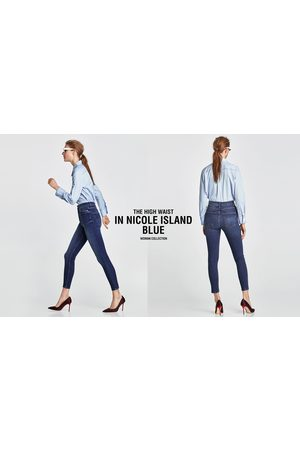 Zara HIGH-WAIST JEANS IN NICOLE BLUE