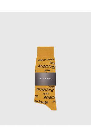 Zara SOKKEN MET TEKSTPRINT - In meer kleuren beschikbaar