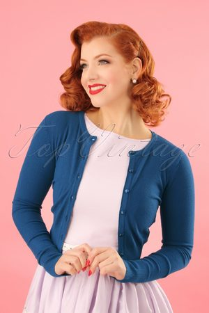 Bunny 50s Paloma Cardigan in Blue