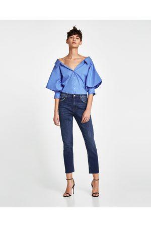 Zara VINTAGE JEANS MET HIGH WAIST IN SUNSET BLUE