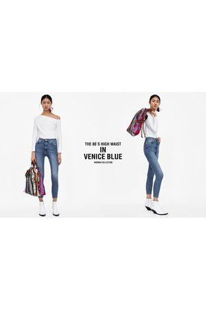 Zara Dames High waisted - JEANS HIGH WAIST VENICE BLUE