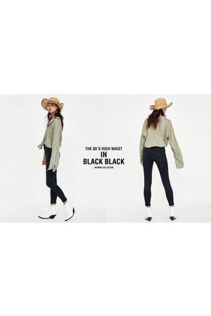 Zara Dames High waisted - JEANS 80S HIGH WAIST BLACK