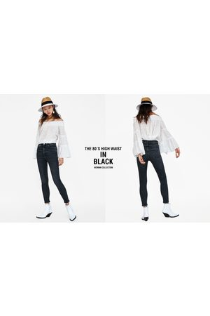 Zara JEANS 80S HIGH WAIST BLACK