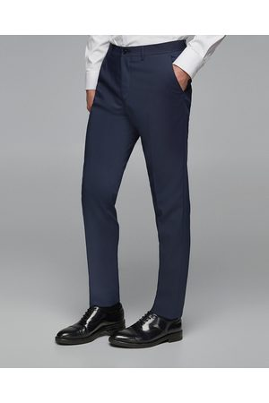 Zara STRUCTURED TECHNICAL SUIT TROUSERS