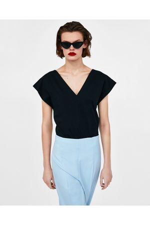 Zara Dames Body's - V-NECK BODYSUIT