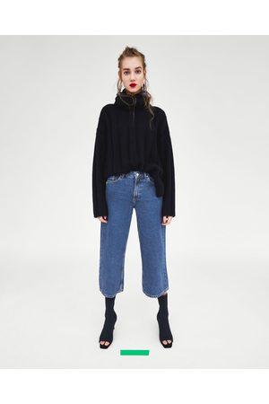 Zara CULOTTE-JEANS MET HALFHOGE TAILLE
