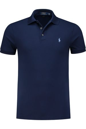 Ralph Lauren Heren Poloshirts - Ralph Lauren poloshirt navy slim fit stretch