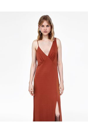 Zara Dames Asymmetrische jurken - JURK MET ASYMMETRISCHE SCHOUDERBANDJES