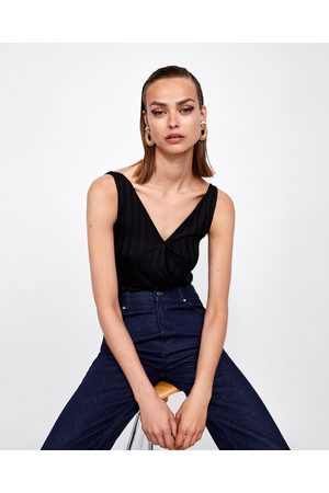 Zara Dames Body's - BODY MET GESTREEPTE STRUCTUUR