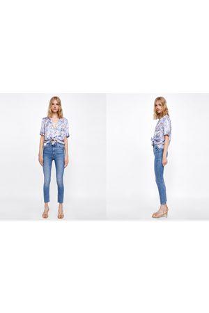 Zara Dames High waisted - HIGH-WAIST JEANS IN BROOME BLUE