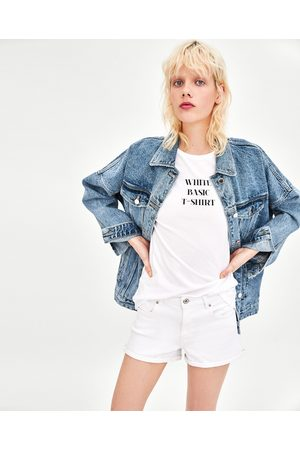 Zara SHORT MET HOGE TAILLE EN OMGESLAGEN PIJPEN