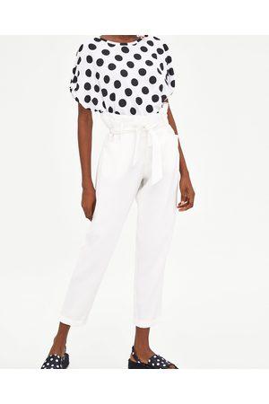 Zara PAPER BAG BROEK