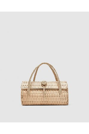 Zara WICKER HANDBAG