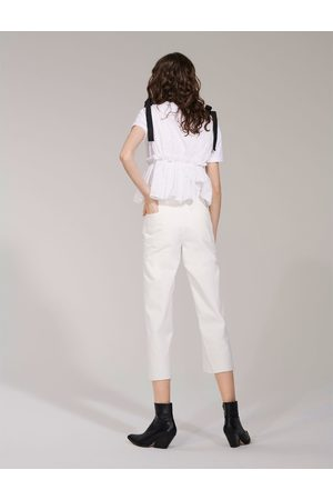 Zara JEANS HIGH WAIST CULOTTE PURE WHITE
