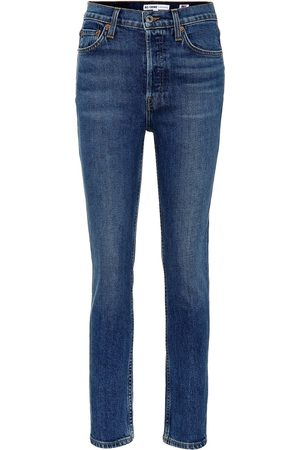 RE/DONE Dames High waisted - Cropped high-rise skinny jeans