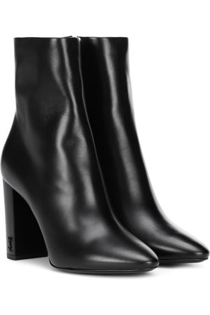 Saint Laurent Lou 95 leather ankle boots