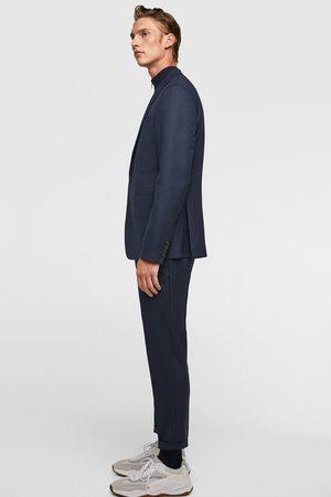 Zara Cropped kostuumbroek met structuur