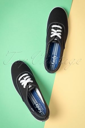 Keds 50s Champion Core Text Sneakers in Black