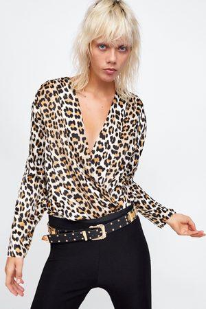 Zara LEOPARD PRINT BODYSUIT