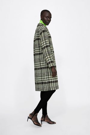 Zara CHECK TWEED COAT