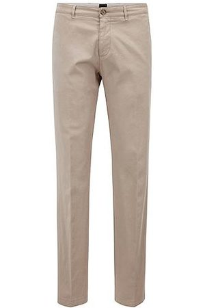 HUGO BOSS Heren Chino's - Regular-fit chino in een gabardine van stretchkatoen