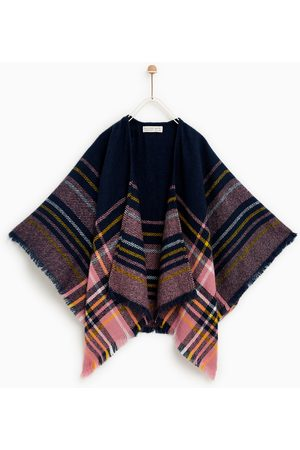Zara Dames Poncho's & Capes - PONCHO MET RUITEN