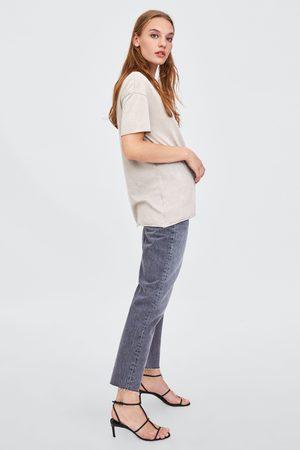 Zara T-SHIRT MET SCHEUREN