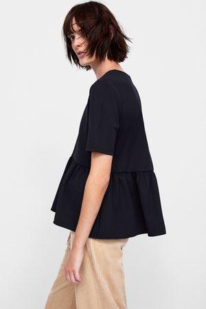 Zara T-SHIRT MET PEPLUM