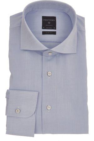 Profuomo Heren Shirts - SHIRT CUTAWAY SF SC BLUE