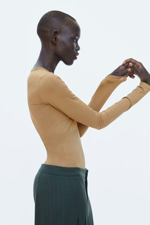 Zara COMBINED FABRIC BODYSUIT