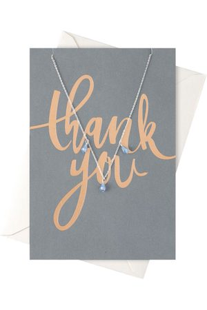Orelia Kettingen-Thank You Drop Necklace Giftcard